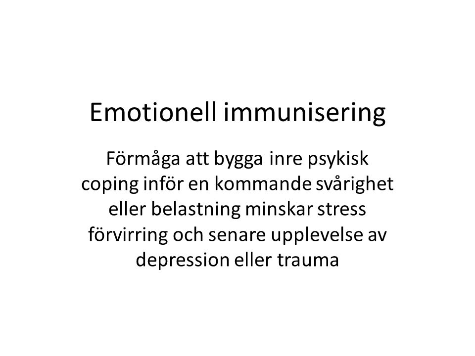 Emotionell immunisering