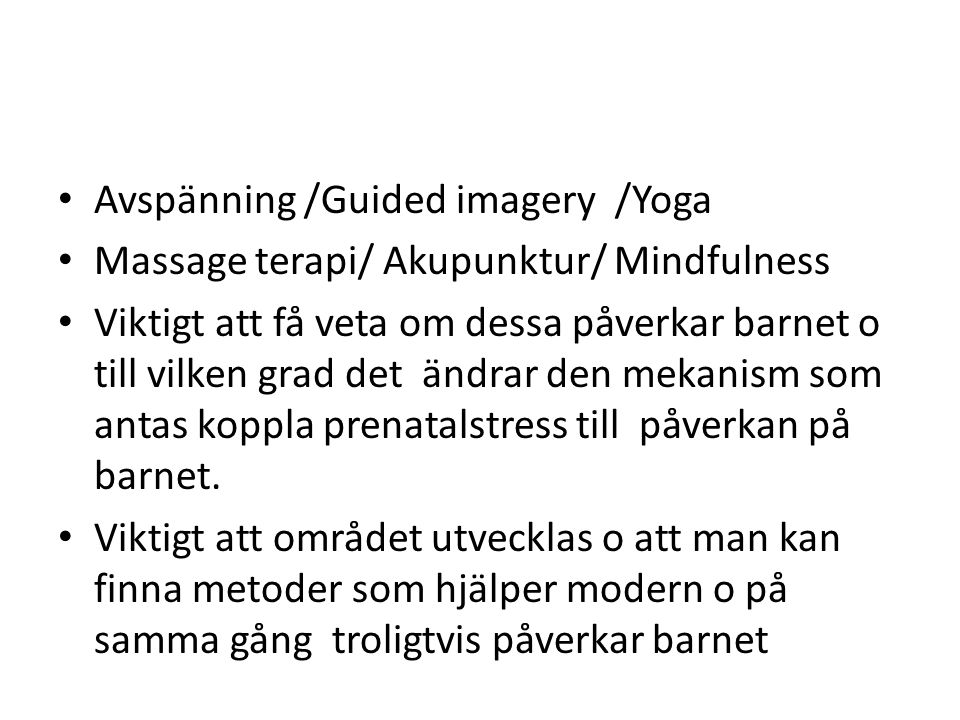Avspänning /Guided imagery /Yoga