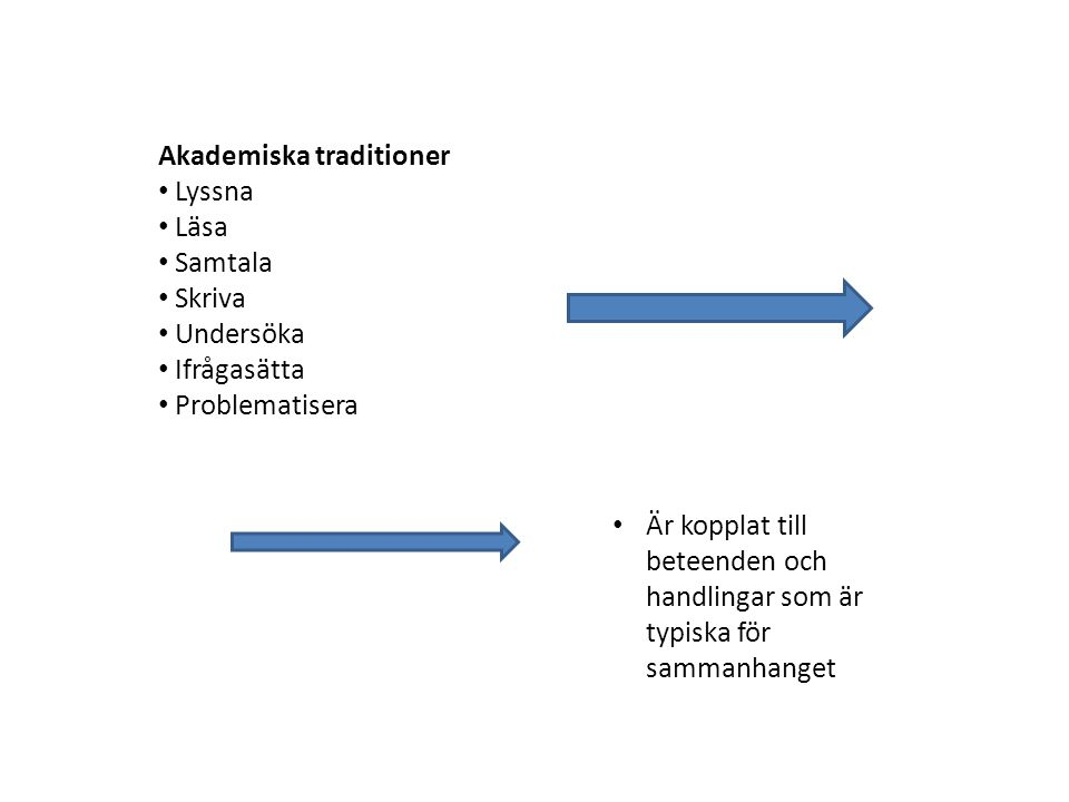 Akademiska traditioner