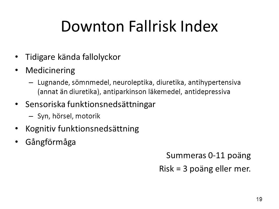 Downton Fallrisk Index