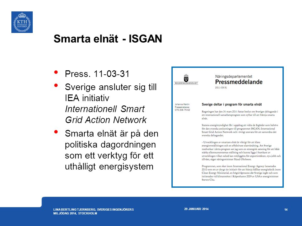 Smarta elnät - ISGAN Press