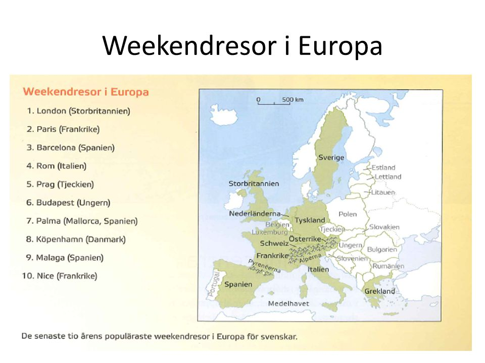 Weekendresor i Europa