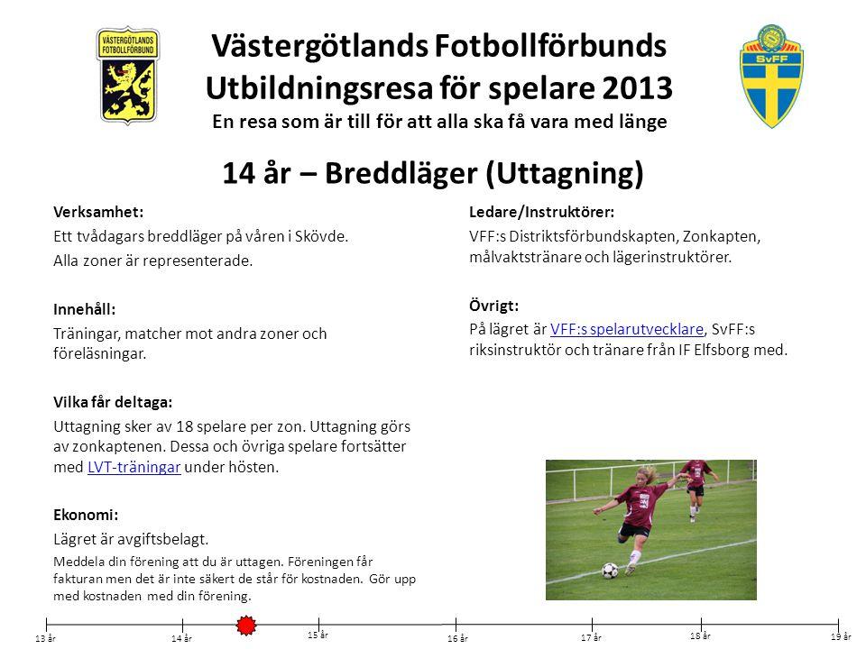 Västergötlands Fotbollförbunds Utbildningsresa för spelare 2013 En ... 710bd4caa2120
