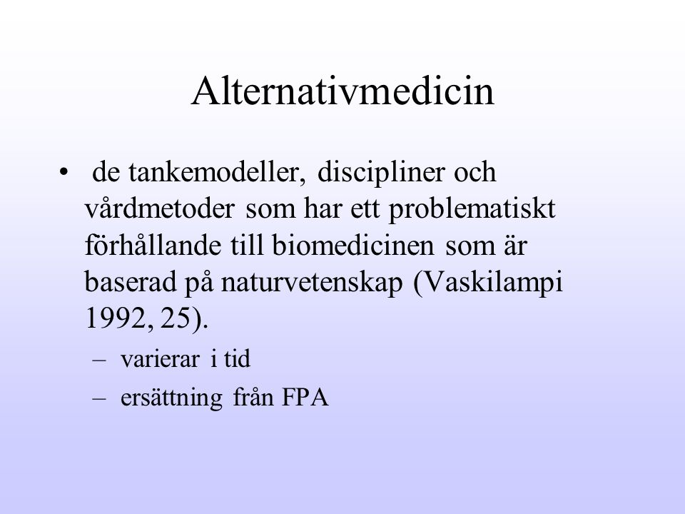 Alternativmedicin
