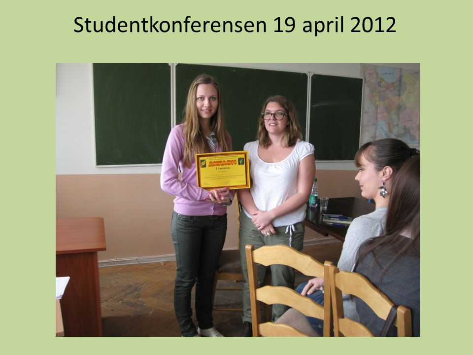 Studentkonferensen 19 april 2012