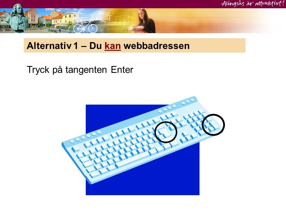 Alternativ 1 – Du kan webbadressen