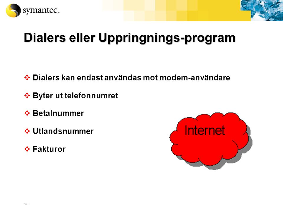 Dialers eller Uppringnings-program