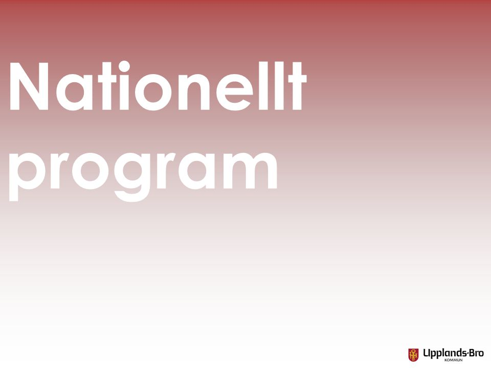Nationellt program