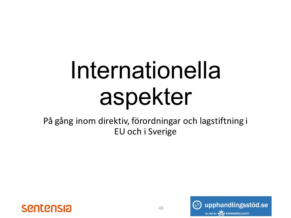 Internationella aspekter