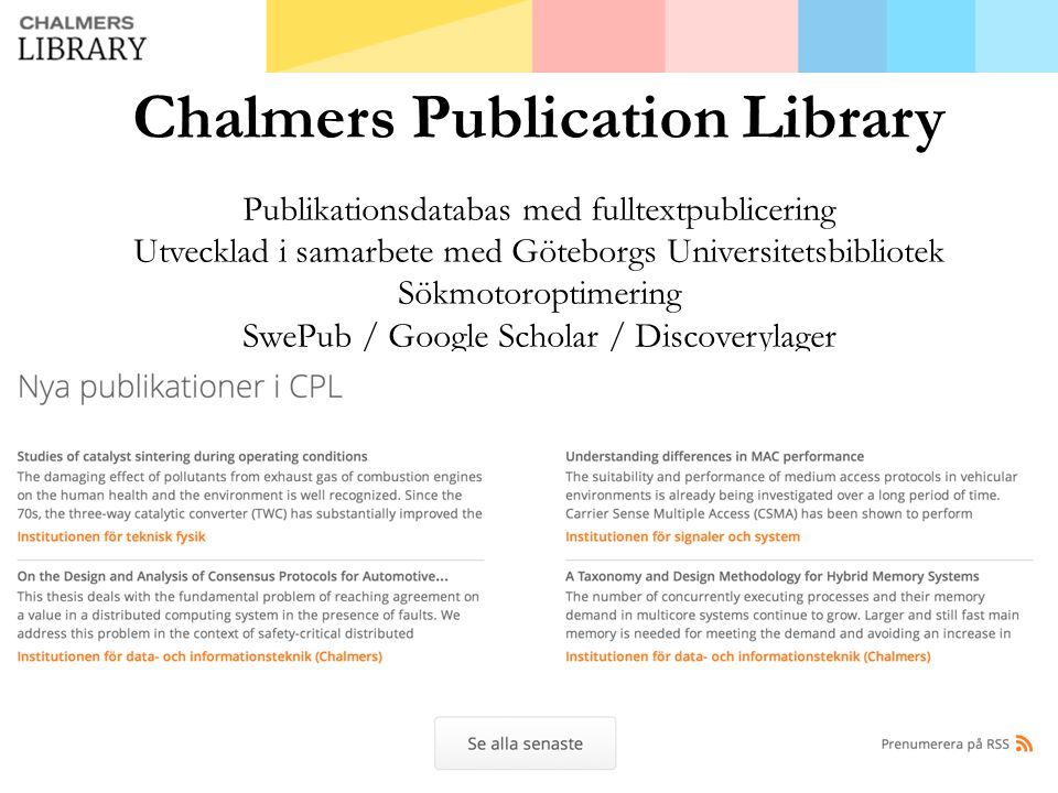 Chalmers Publication Library