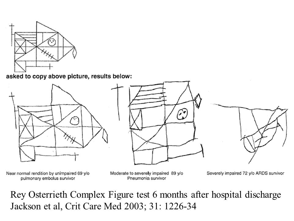 Rey Osterrieth Complex Figure test 6 months after hospital discharge