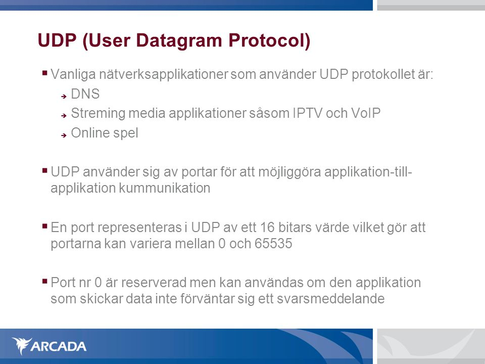 UDP (User Datagram Protocol)‏
