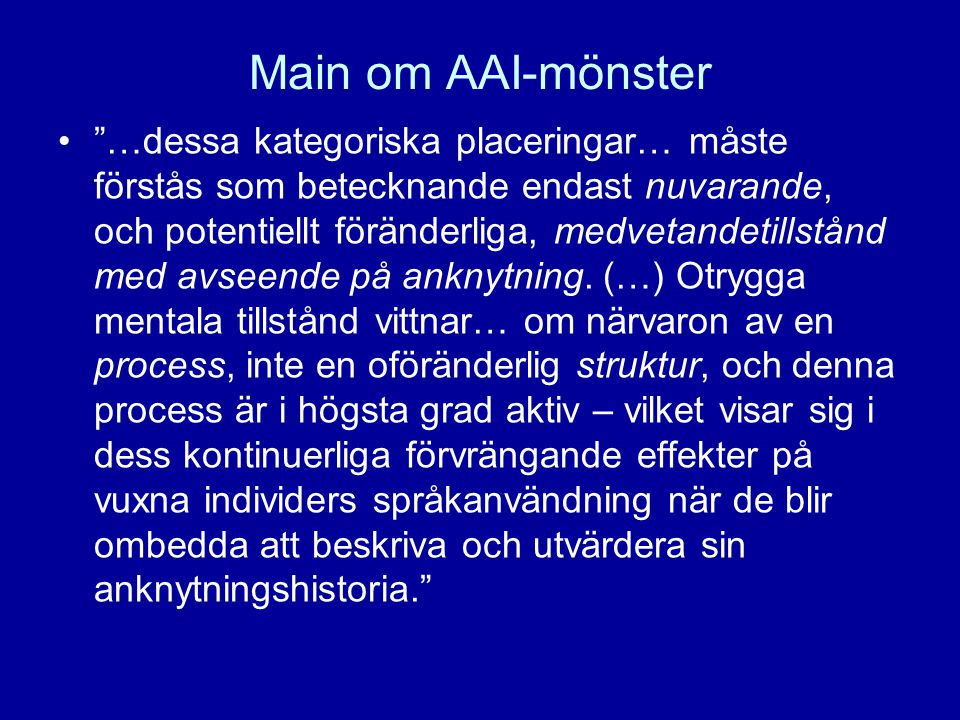 Main om AAI-mönster