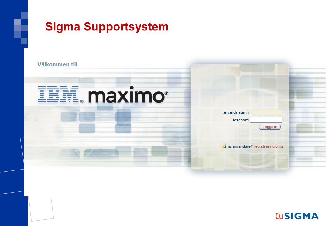 Sigma Supportsystem