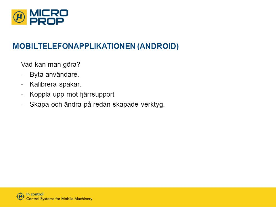 Mobiltelefonapplikationen (Android)