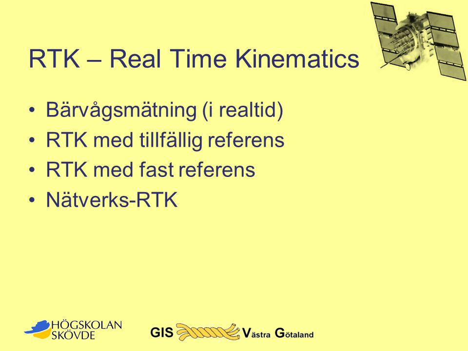 RTK – Real Time Kinematics