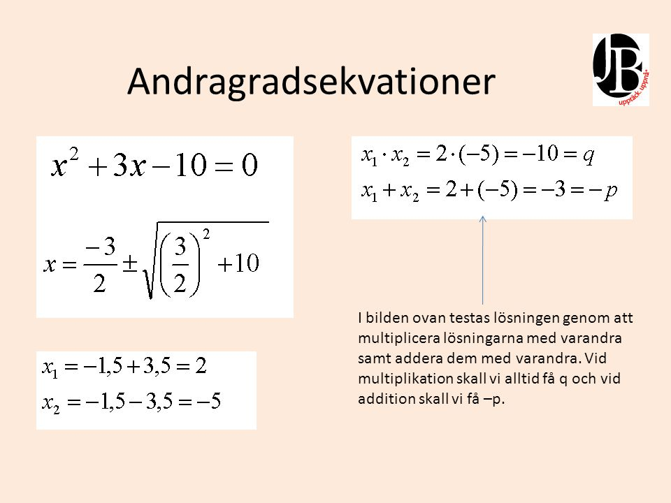 Andragradsekvationer