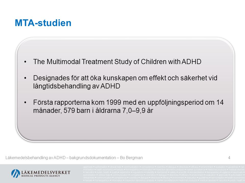 MTA-studien The Multimodal Treatment Study of Children with ADHD
