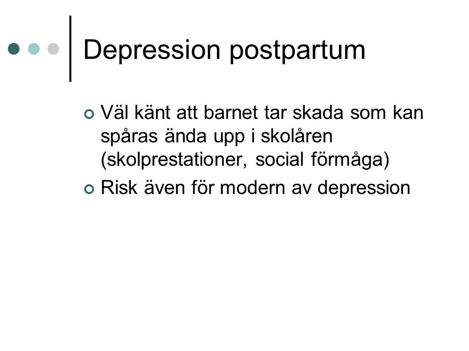 Depression postpartum
