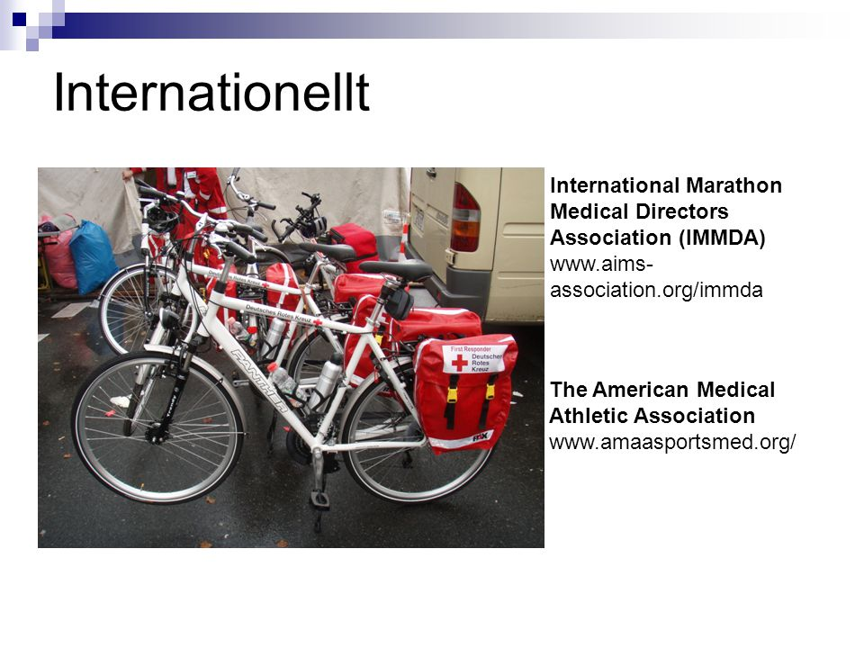 Internationellt International Marathon Medical Directors Association (IMMDA)