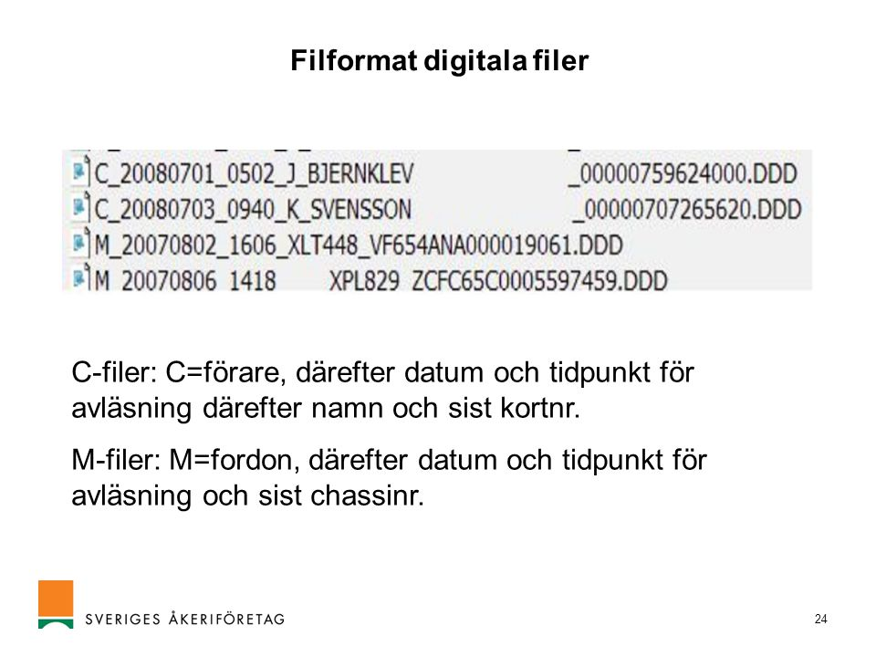 Filformat digitala filer