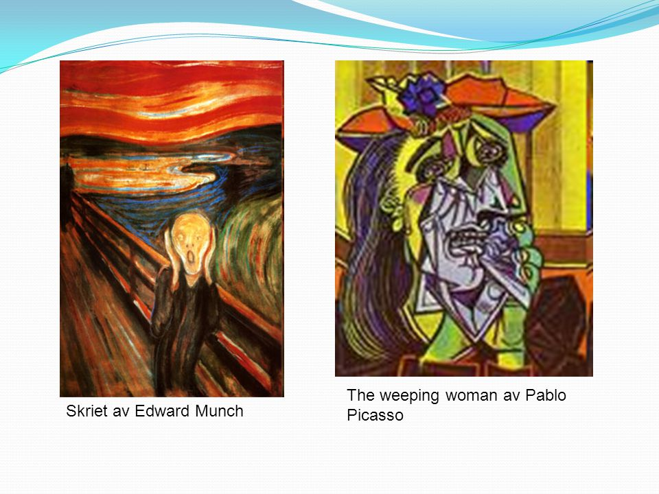 The weeping woman av Pablo Picasso