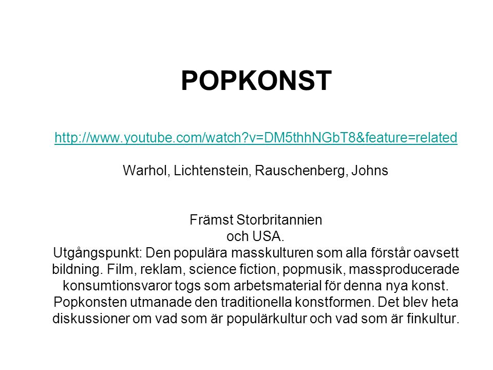 POPKONST   youtube. com/watch