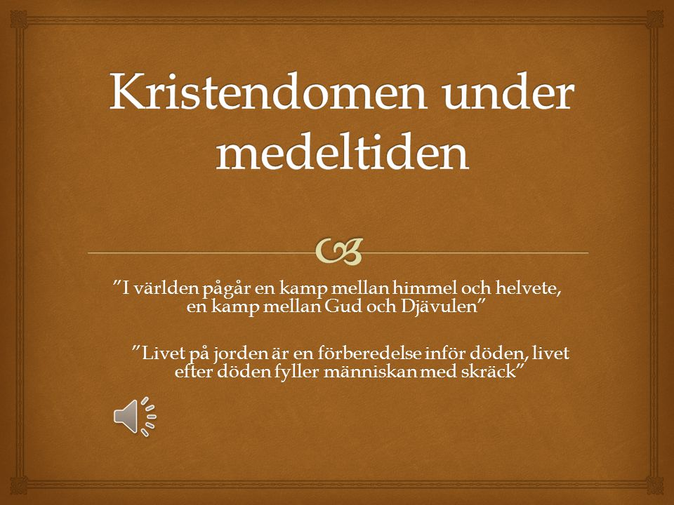 Kristendomen under medeltiden