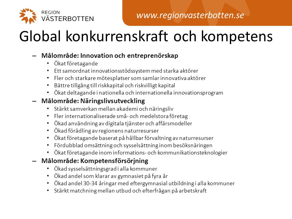Global konkurrenskraft och kompetens