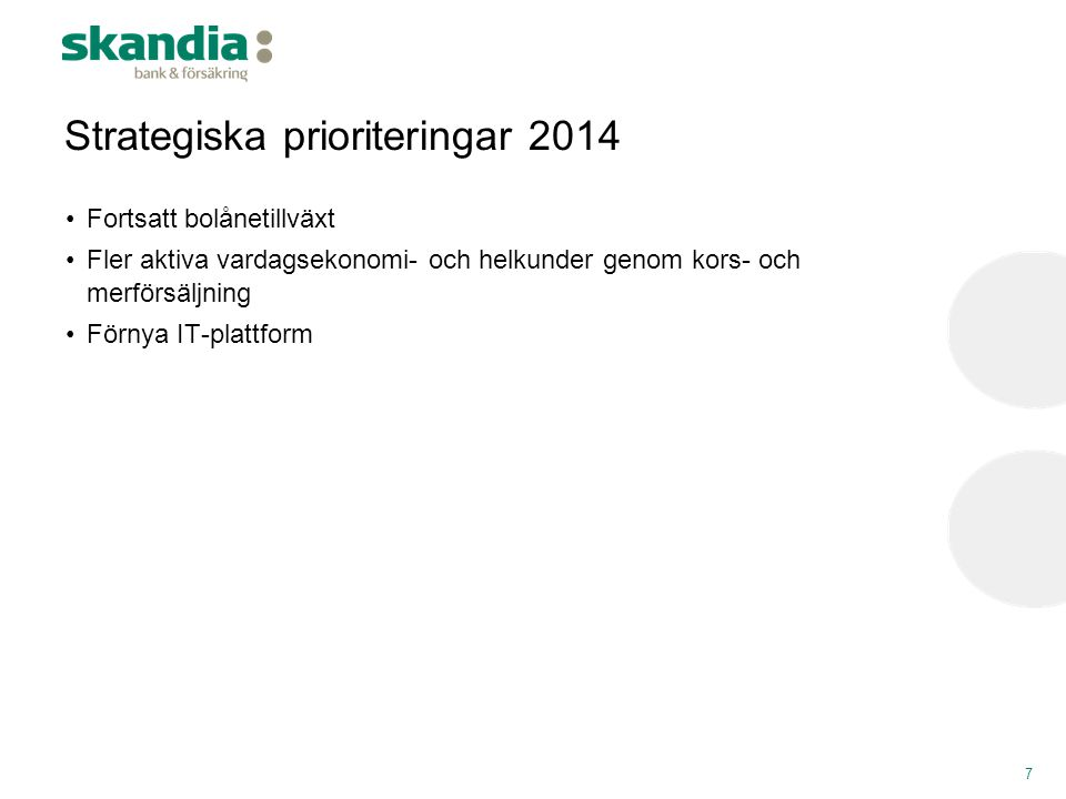 Strategiska prioriteringar 2014