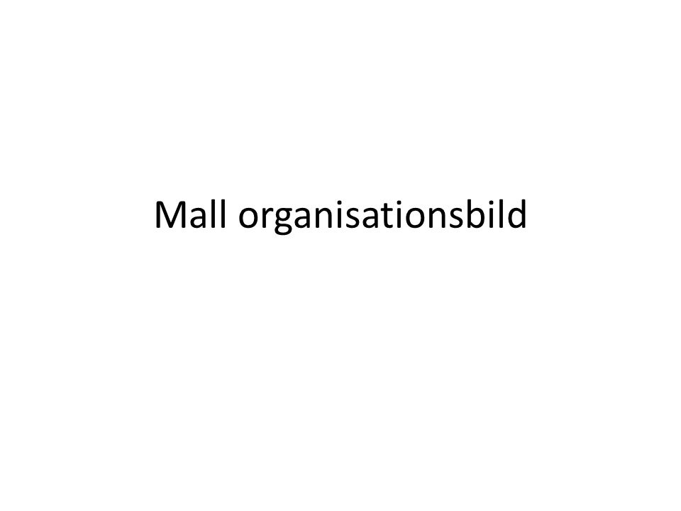 Mall organisationsbild