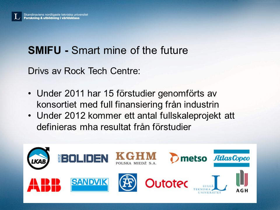 SMIFU - Smart mine of the future