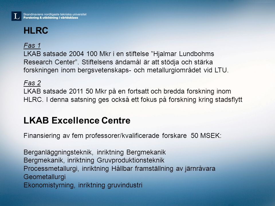 LKAB Excellence Centre