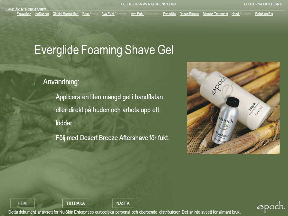 Everglide Foaming Shave Gel