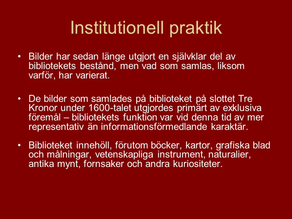Institutionell praktik