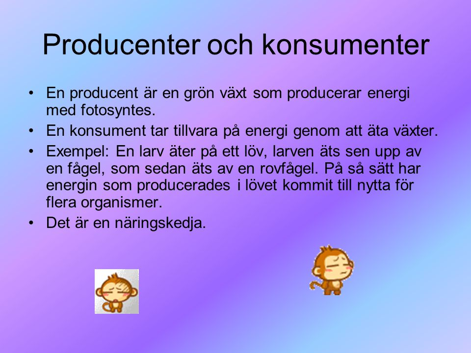 Producenter och konsumenter