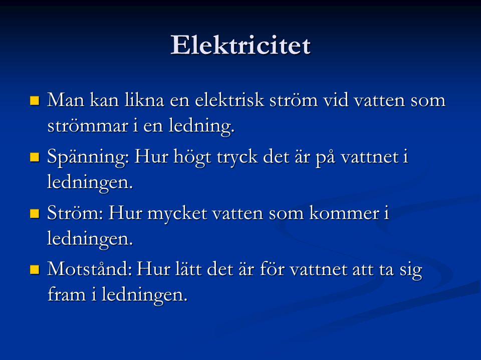 vad mäter man elektrisk ström med