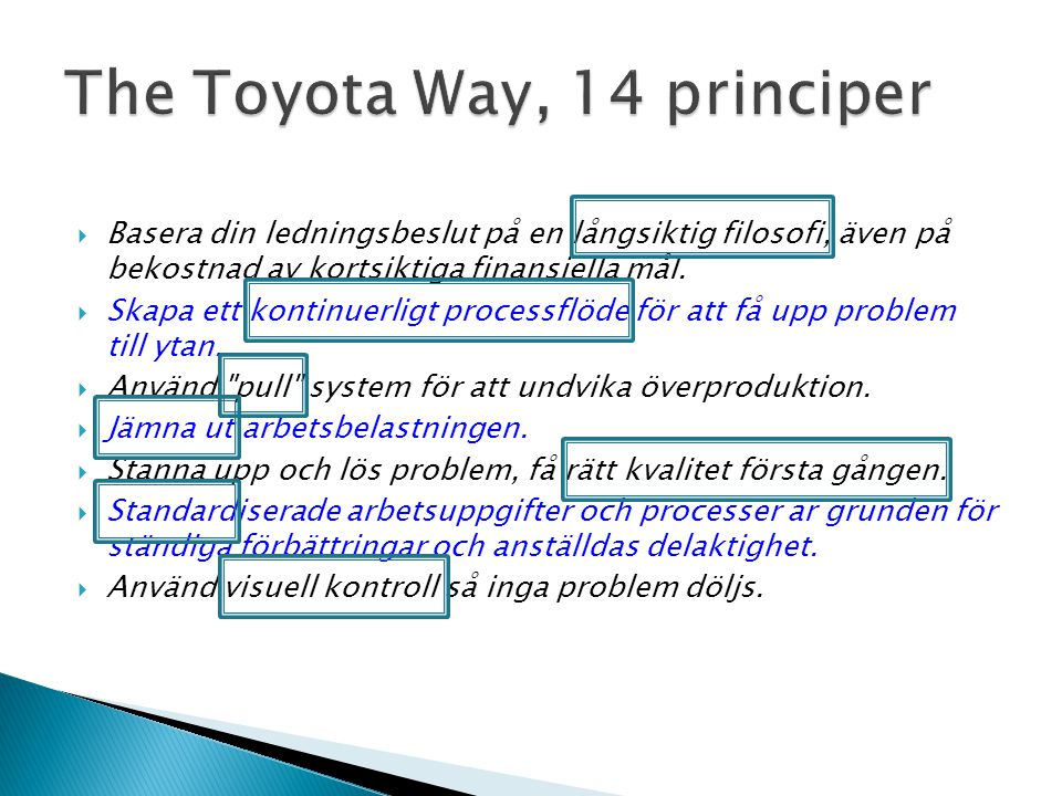 The Toyota Way, 14 principer