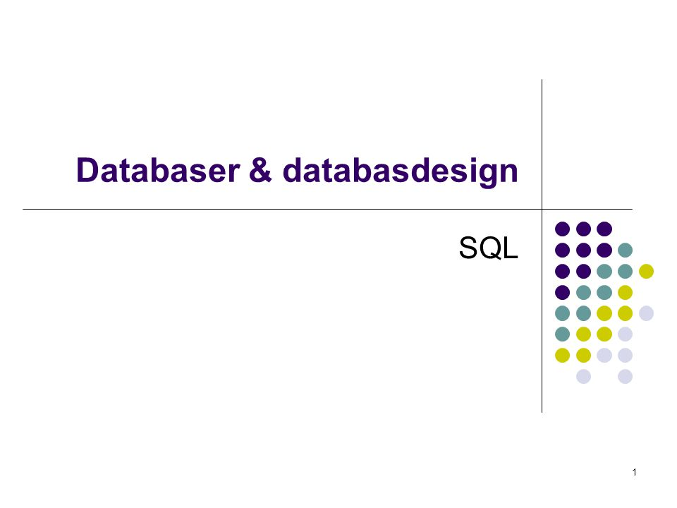 Databaser & databasdesign