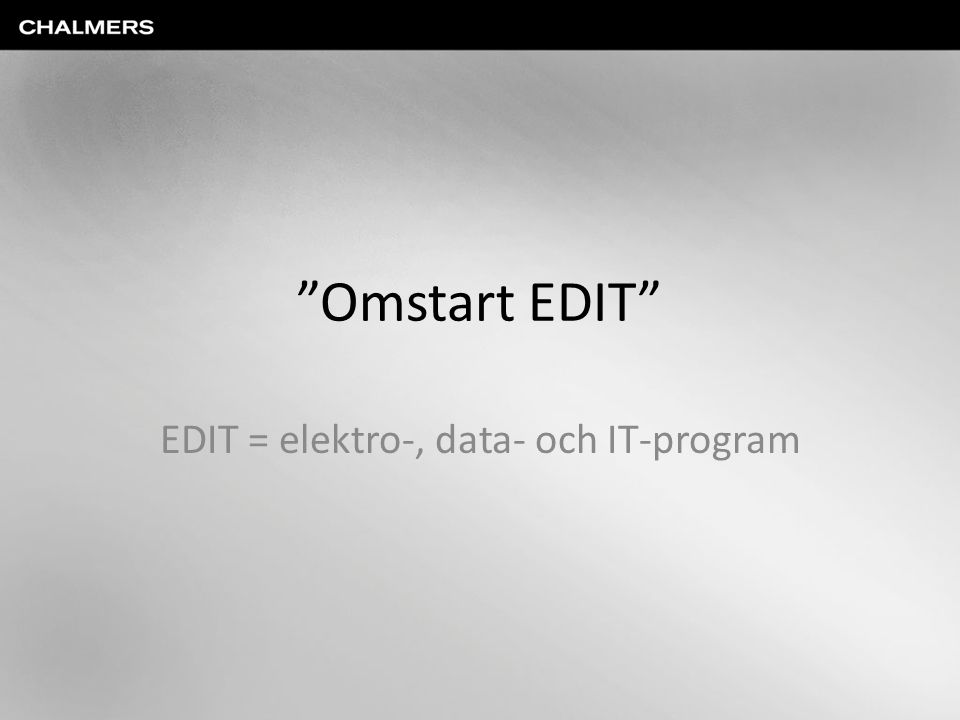 EDIT = elektro-, data- och IT-program