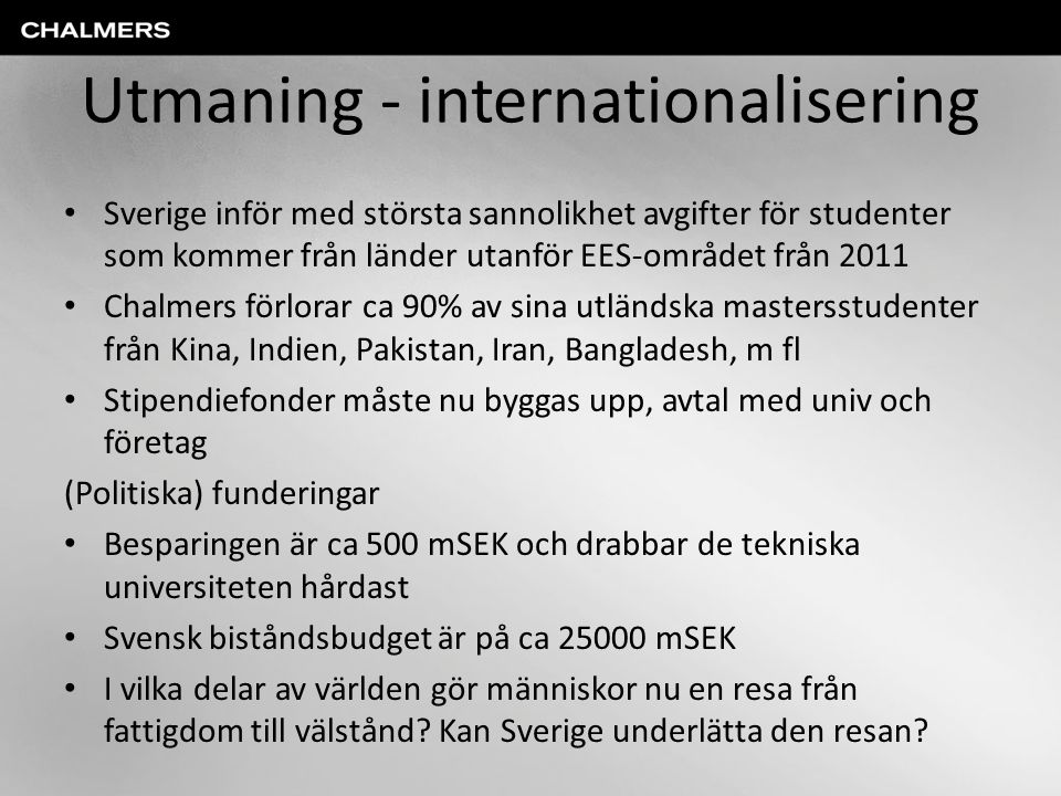 Utmaning - internationalisering