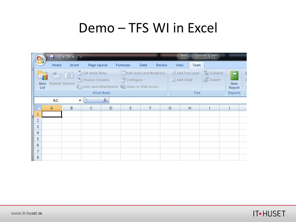 Demo – TFS WI in Excel