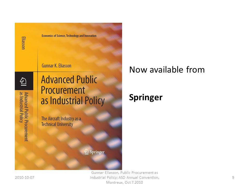 Now available from Springer