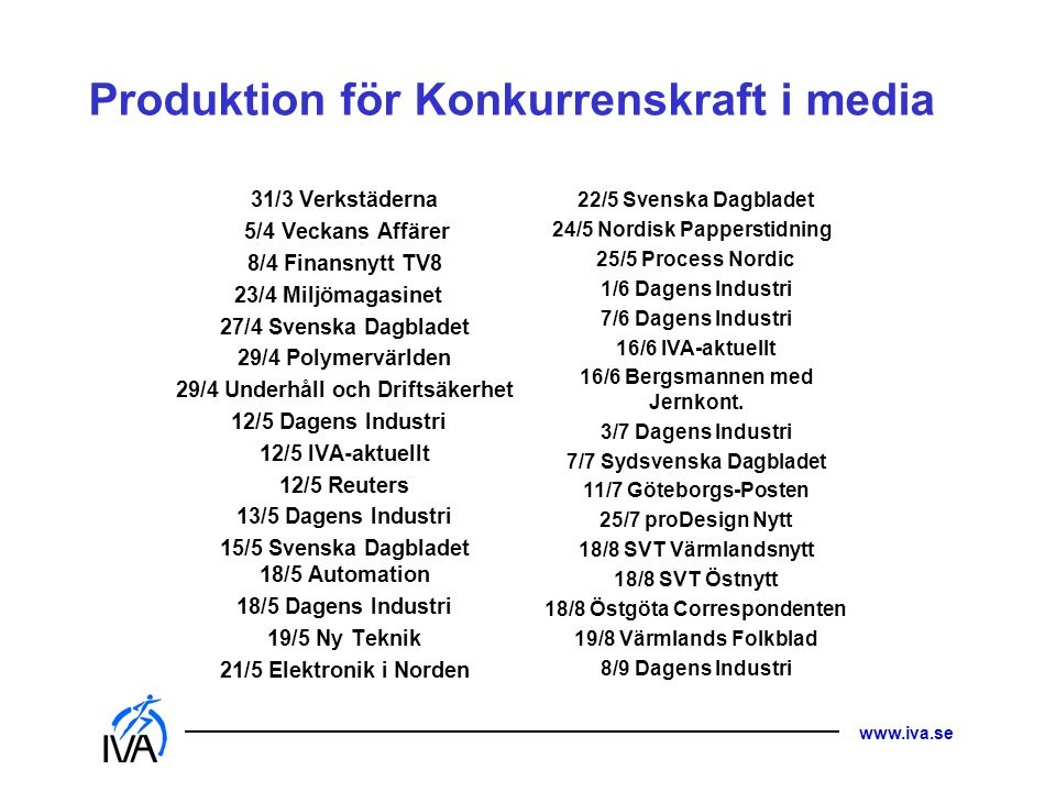 Produktion för Konkurrenskraft i media