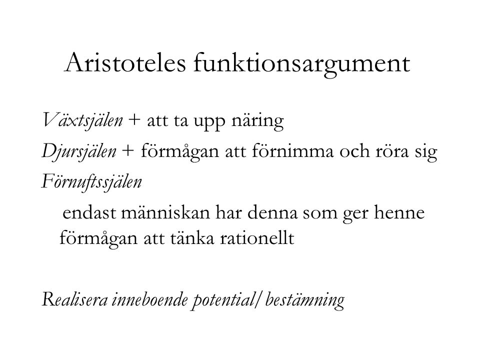 Aristoteles funktionsargument