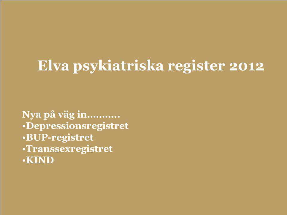 Elva psykiatriska register 2012