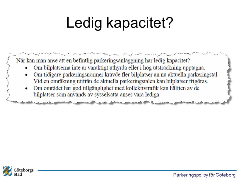 Ledig kapacitet