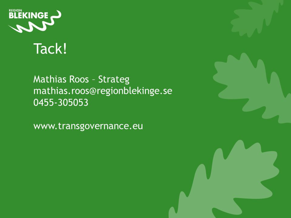 Tack! Mathias Roos – Strateg