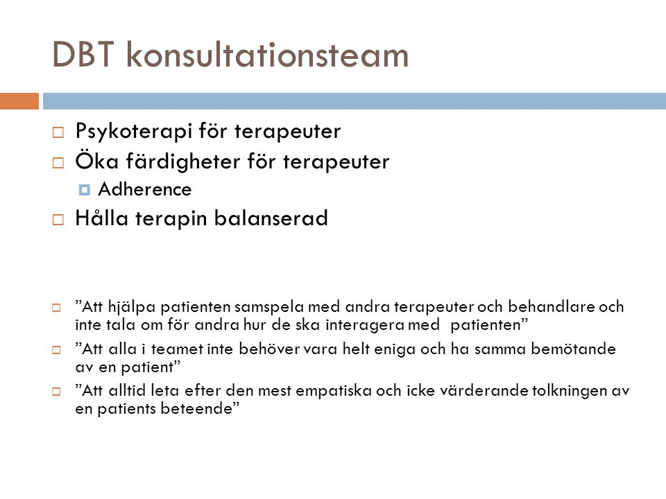 DBT konsultationsteam