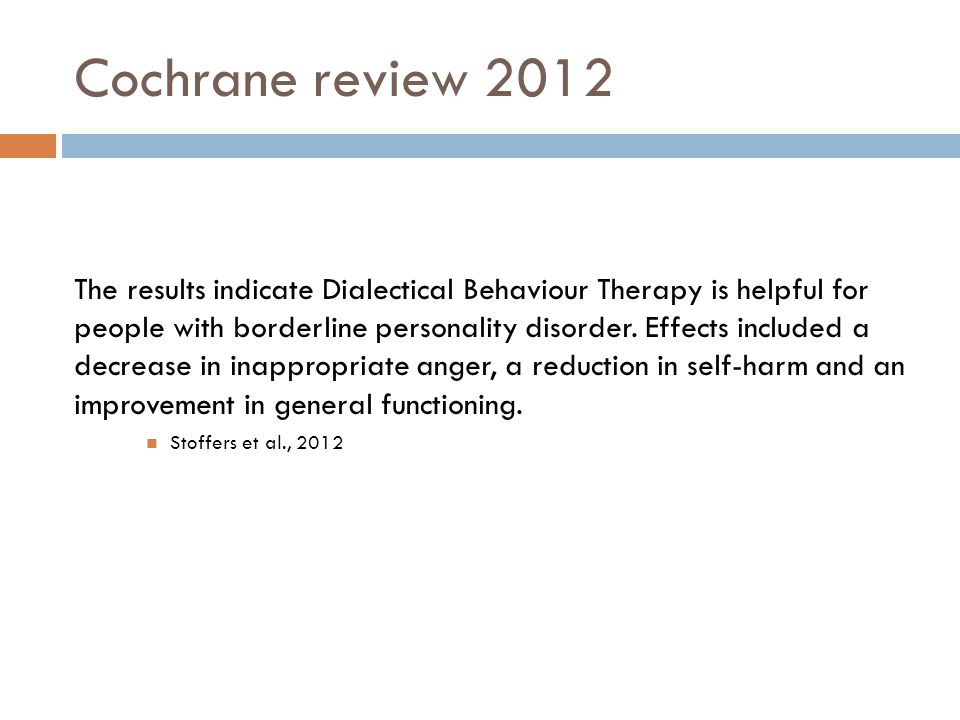 Cochrane review 2012